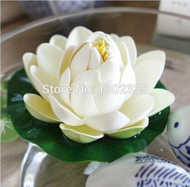 2pcs/lot Foam Artificial Flowers Water Lily Lotus Can Floats on Water Aquarium Decor Simulation Flower (No Aquarium)(China (Mainland))