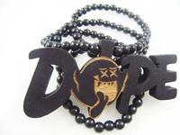 4H544 Min order 7usd Fashion natual wood hiphop necklace dop Wholesale Handmade Vintage Wooden Necklace & Pendent