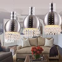Modern aluminum brief crystal pendant lamp lighting bar lamp lamps