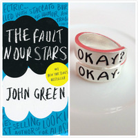 2014 New The Fault in Our Stars Set of Two Okay ring Cloud Friendship Okay? Okay. Ring For Men&women