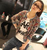 2014 new Korean fashion cartoon long-sleeved sweater Slim women's Jacket coat