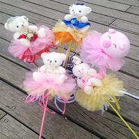 Plush toy bear bouquets wedding crystal bouquets bridal fashion flower bouquets one piece bouquets