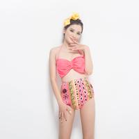 free shipping ,bikini set, swimming wear,beach wear ,high waist style, lovely design,big bowknot moq is 1pc