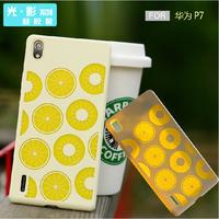 Free shopping for huawei p7 mobile phone case for huawei P7 protective case cell phone case silica gel set
