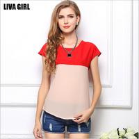 Blusas Femininas 2014 Summer Autumn women clothing NEW Fashion Casual Plus Size Chiffon T Shirts Big Size Women TOPS Blouses