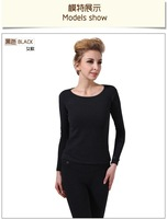 Free shipping new design 7.4V Electric heating clothing ,women long johns ,plus velvet underwear O-neck brand johns set