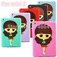 3D Little Cute Girl High Quality Cute Cartoon XiaoXi Case Cover Bags For Apple iPad Mini With Mini2