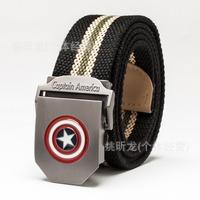 Free shipping!!!Captain America 2 young men canvas belt leisure joker wholesale belt thickening fashion belts