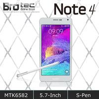 "Perfect 1:1 New arrive Note 4 phone 8GB ROM 1GB RAM MTK6592 Octa Core Note4 Smart Mobile Phone 5.7"" 1280*720 Screen 13MP camera"