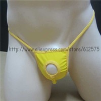 Free shipping LL005 sexy male black and leopard print color nylon and Spande low-waisted transparent briefs for men
