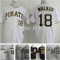 Pittsburgh Pirates #18 Neil Walker White Black Grey Stitched Baseball Jerseys Cheap Wholesale