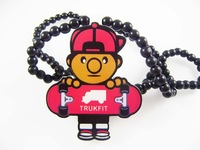 4H588 Min order 7usd Fashion natual wood hiphop necklace skateboard kids Pendant,Wood Necklace For Women kid and men