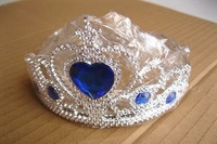 Children's plastic crown frozen hearts diamond Tiaras  Elsa Crown Children Best Birthday & Christmas Gift 12pcs/lot