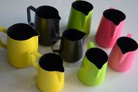 Teflon stainless steel colored beak fancy garland cup non-stick foam cup 350ml.600ml.1000ml pitcher