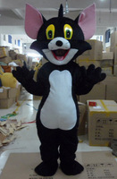 Wholesale FREE SHIPPING black cats Plush Cartoon Character Costume mascot cosplay Custom Products customized