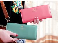 2014 new Fashion Women's Clutch carteira de couro masculino women walletsHeart purse desigual wallet  female