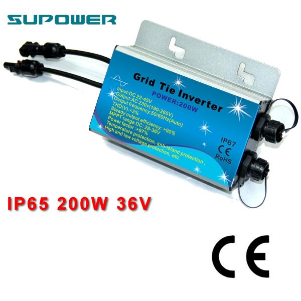 220V 200W Waterproof Solar On grid tie micro Inverter(China (Mainland))
