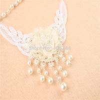 Kids lace flower  necklace,children flower Necklace,XL04