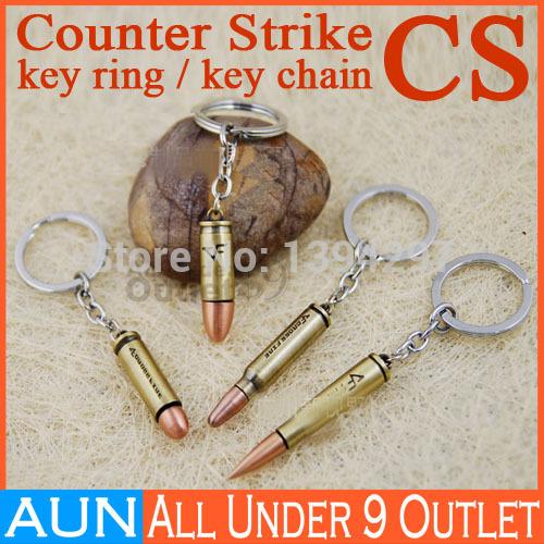 2014 3D Simulation Model CS Counter Strike shooting Game bullet AK47 M4 AUG Desert Eagle rifle Keychain Key Chain Ring Keyfob(China (Mainland))