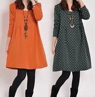 Spring 2014 fashion maternity dress pregnant women models pregnant women dress Korean yards long sleeve shirt