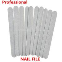 10pcs Professional Grey Sanding Zebra Nail File Buffering Polishing Nail Art Tool Free Shipping