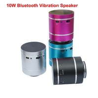 Free / Drop Shipping Wireless vibro speaker Professional surround super bass Bluetooth vibration resonance mini speaker 10W
