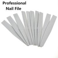 Free Shipping  10PCS / Lot Grey ACR Nail File Buffer -Professional  100/180 Manicure Tools