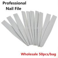 Free Shipping  50PCS / Lot Grey ACR Nail File Buffer -Professional  100/180 Manicure Tools