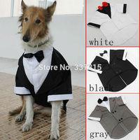 Fashion pet clothes Large Dog Wedding tuxedo Clothing Two Colors free shipping