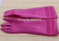 South Korea imported natural latex rubber dishwashing gloves / dishwashing / wipe lengthened housework gloves M