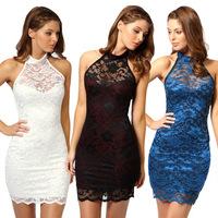 Vestidos Dresses New 2014 Women summer mini dress polyester sleeveless sexy slim fashion girl evening dress plus size loose