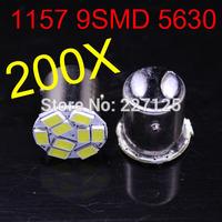 2014 new style 200 pcs 1157 P21W 5630 LED 9 SMD R10W turn signal steering lamp reversing back up light white blue