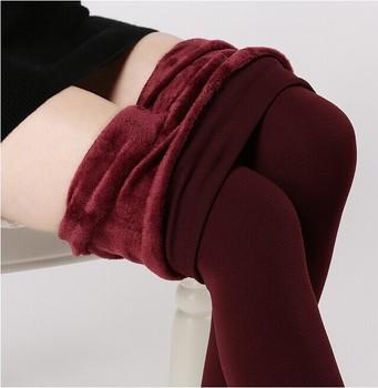 2014 plus cashmere leggings woman girls Casual Warm Winter Faux Velvet Knitted Thick Slim Leggings Super Elastic free shipping