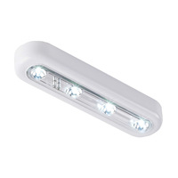 Two Wireless 4-LED Touch Tap Light Push Light On Night Light Lamp for Bedroom,Closets, Attics, Garages, Car, Sheds(2, White)