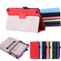 """Hand Strap Stand Cloth Pattern Leather Case Magnetic Cover For nVDIA Shield 8"""" Tablet"""