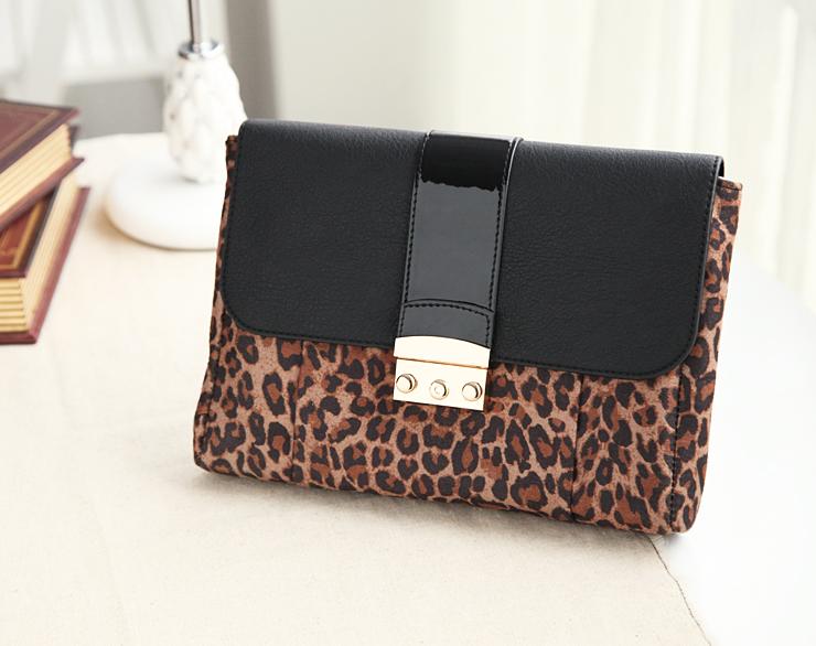 Leopard print next day clutch bag evening bag handbag women's(China (Mainland))