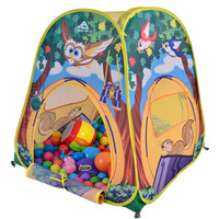 kingtoyPortable hot Kids Tent Animal Owl Cartoon Printed Children's Play Tent with Mat Toy House for Kids Camping Tent Play