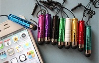 100pcs/lot Mini Stylus Touch Pen With Headset Dust Plug for Apple iPhone 4 S iPad 2 Cellphone