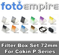 72mm 10 Pcs Gradual Gray Blue Orange Green ND8 ND4 ND2 Square Filter Set for Cokin P Series