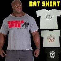 2014 Summer golds gym fitness men gasp Print bodybuilding wear shirt Brand sports vest Basketball Running Gym Plus Size Rag tops