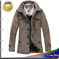2014 NEW Brand Men Woolen Jacket Jaqueta Roupas masculinas Mens Jackets and Coats Outdoors Jacket Overcoat Casual Men Jacket