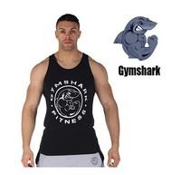 New 2014 fashion cotton gymshark sleeveless shirts tank top men Fitness shirt mens singlet sport Bodybuilding Plus size gym vest