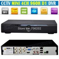 Free Shipping 4 Channel Surveillance Security Mini CCTV DVR 4CH 960H D1 H.264 DVR