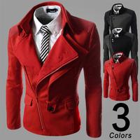 Free shipping 2014 Hot Sale New Men's Jacket Coat Casual Winter Cotton Men Overcoat Pure Color Men jacket plus size M~XXL