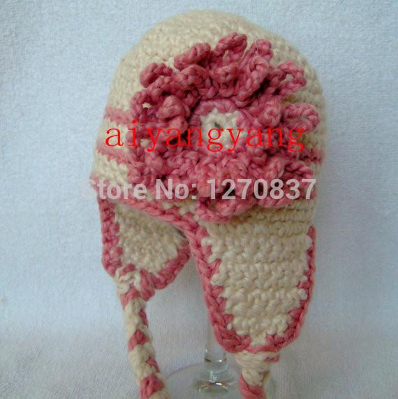 venda direta da fábrica aiyangyang novo produto artesanal padrão floral elegante menina earflap chapéu frete grátis(China (Mainland))