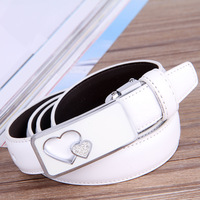 New arrival 2014 solid womens belts cute ladies leather belt