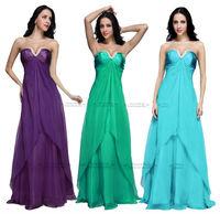 2014 FairOnly New In Stock Chiffon V Neck Beading Long Women Evening Dress