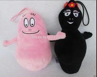 "Barbapapa and Barbamama Plush Doll Toy 7"" set of 2"
