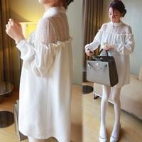 New 2014 Autumn Dress Loose chiffon Bottoming Maternity dress 2015 Spring women dress