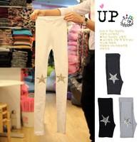New 2014 Autum Girl Pants Knee Four Colors Available Paillette Lovely Star Leggings For WOmen